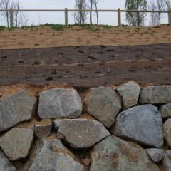 Riera de St. Cugat - escollera i mantes orgàniques de protecció